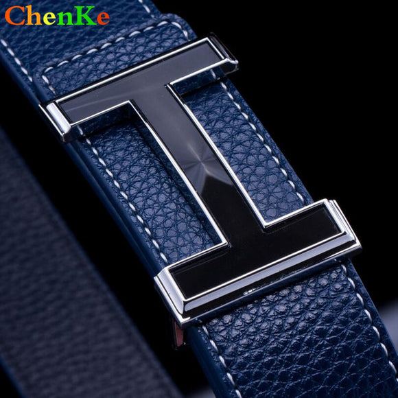 ChenKe Men Belt 2017 Cowhide Genuine Leather Belts For Men Fashion Smooth Buckle