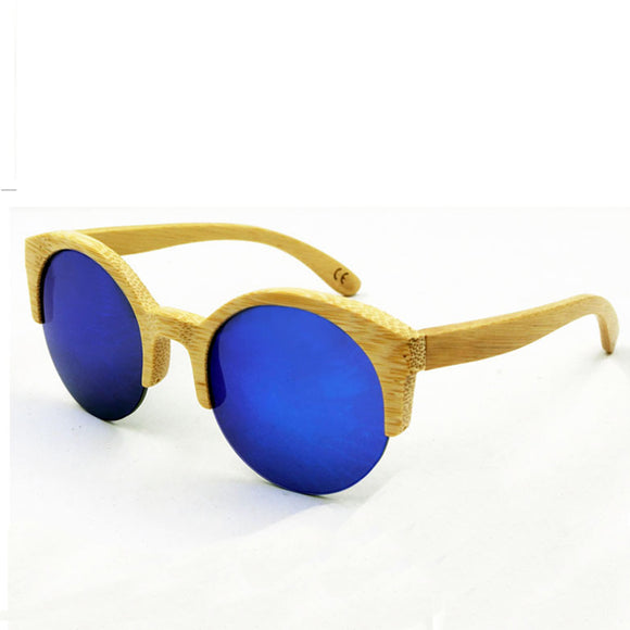 Novelty Bamboo Sunglasses Men Women Brand Designer Original Wood Sun Glasses Wooden Frame  Polarized Glasses for Women Men