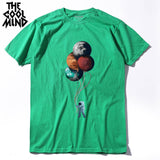 THE COOLMIND 100% cotton short sleeve casual loose o-neck men T-shirt
