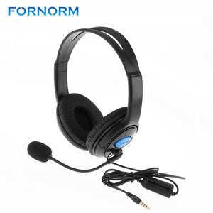 FORNORM Wired Gaming Chat Earphones Headset 3.5mm Online Live Game Headphones With Microphone Stereo Supper Bass For PS4 / XBOX