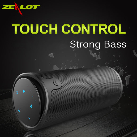 Zealot S8 Portable Wireless Bluetooth Speaker Touch Control Sport Bicycle HiFi Stereo Car