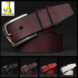 [MILUOTA]  Cinturones mujer Cowhide + High quality PU leather belt men fashion mens