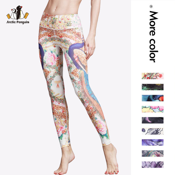 [AP] Newset Yoga Pants High Waist Compression 3D Animal Print Pants Quick Dry Striped