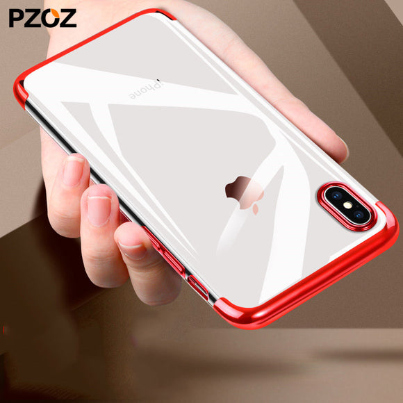 PZOZ for apple iphone x 10 case ultra thin luxury tpu cover coque bumper accessories silicone slim casing for iphonex soft case