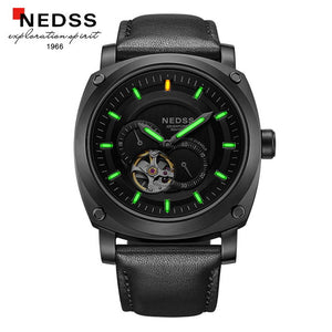 NEDSS mens watches top brand luxury wristwatch skeleton Watch Men automatic watches