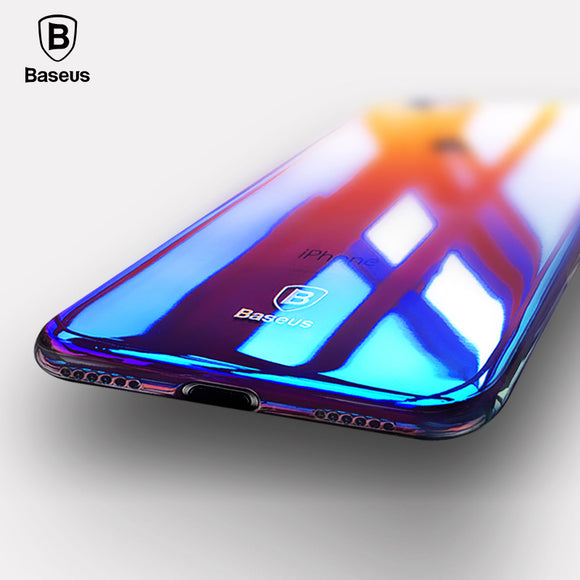 For iPhone 8 Case, Baseus Luxury Plating Gradient Hard Plastic Case For iPhone 8 8 Plus 7