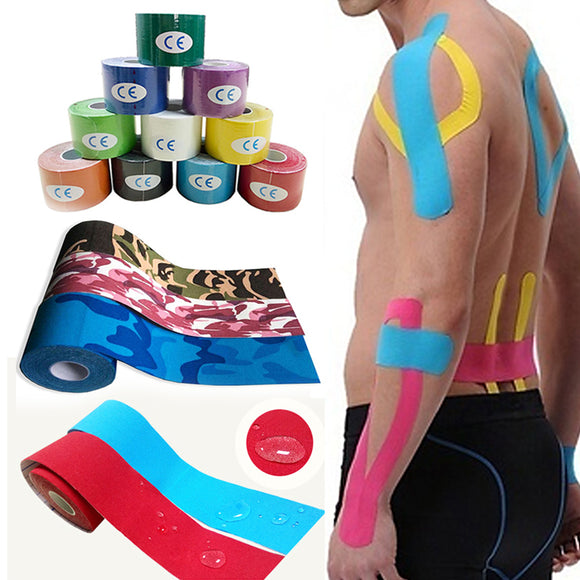 Professional Sport Elastic Tape Roll Physio Muscle Care Strain Injury Support Cotton Multi