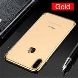 TOMKAS Luxury Case For iPhone X 10 Phone 7 8 6 Cases Transparent Cover Plating TPU Fitted Case For iPhone X 8 7 6 6S Plus