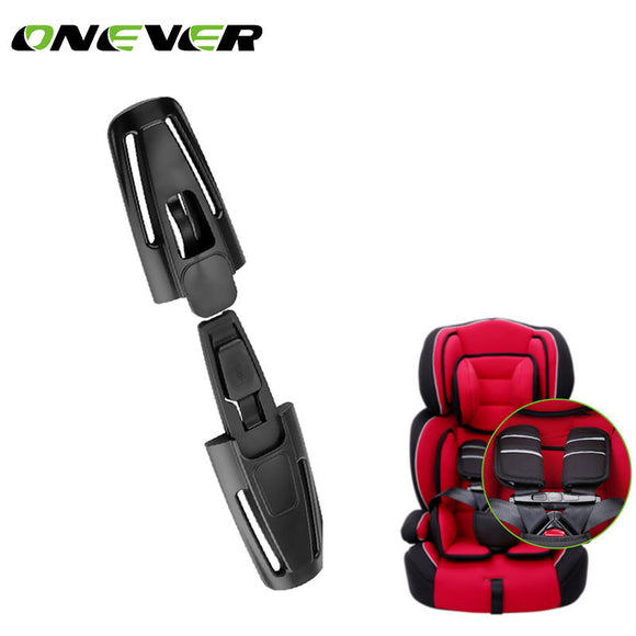 Onever 1PC Baby Safety Car Seat Strap Seat Belt Cover Child Chest Harness Clip Safe Buckle Black Car-Styling Car seat belt Clip
