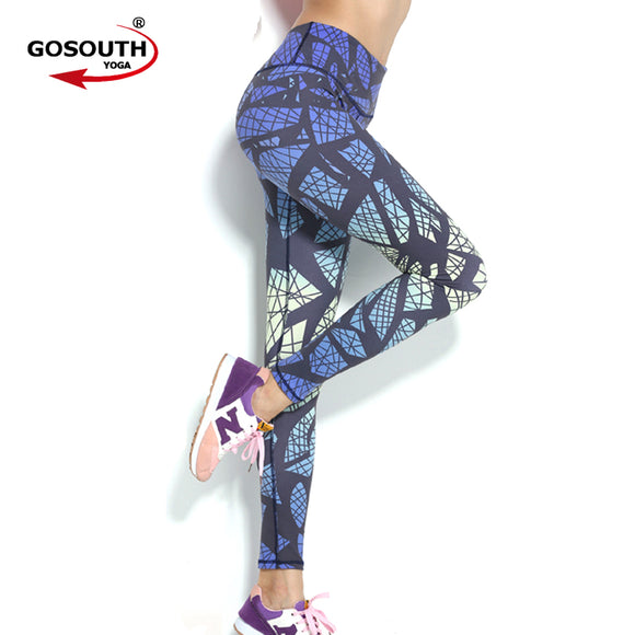 Yoga Legging Women High Waist Stretched Trousers Gym Fitness Exercise Running Jogging Tights Sportswear Slim Sports Pants G-381