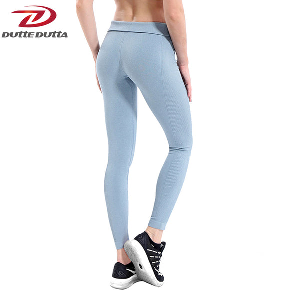 Women Yoga Pants High Elastic Fitness Sport Leggings Tights Slim Running Sportswear Sports Pants Quick Drying Training Trousers