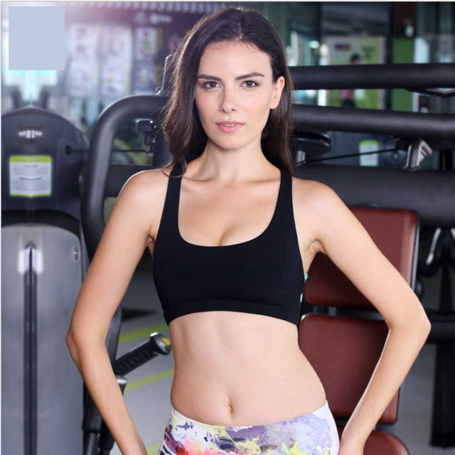 41f4bae749 ... Brand Women Shake Proof Padded Sport Bra Wicks Sweat Underwear Gym  fitness Yoga