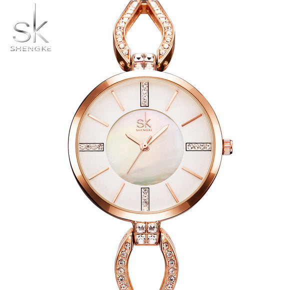 2017 Sk Luxury Fashion Design Bracelet Watches Women Watch Famous Brands Gold