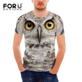 FORUDESIGNS Mens T Shirts Cool 3D Wolf T-Shirt for Men Summer Casual Short Sleeve