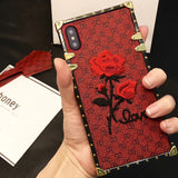 xinwen luxury i 3d flower tpu red etui,capinha,coque,cover,case for apple iphonex iphone x 10 silicone silicon phone accessories