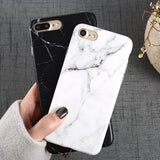 Luxury Marble Pattern i 8 Phone Case For iPhone 8 Plus Case For iPhone8 Plus Black Phone