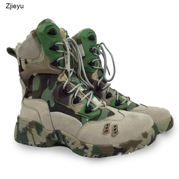 2017 new Men Military Tactical Boots men combat boots Desert bots Hiking Camouflage