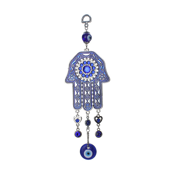 1pc Ethnic Style Key Chain Blue Crystal Evil Eye
