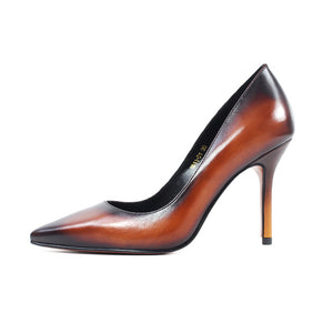 Vikeduo 2018 Handmade Pointed Toe Luxury Fashion Party Wedding Dress Shoe Original Genuine Leather Women Thin High Heel Shoes