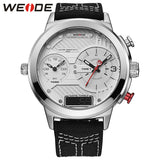 2018 New Luxury Brand Weide Men Watches Nylon Strap Quartz Clock Led Digital Military
