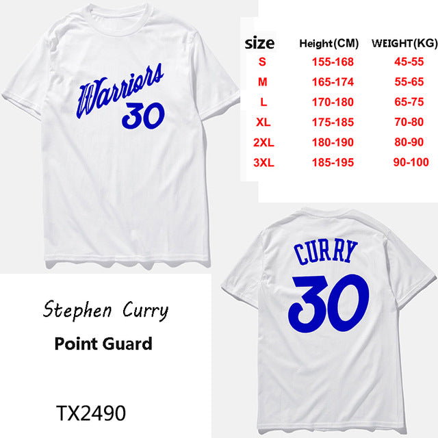 check out 5258a 49ee3 New brand clothing Stephen Curry jersey basketbal t shirt men Warrior #30  print fashion