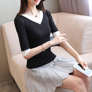 2018 Spring Summer Women Clothes knitting Sweaters Pullpvers Undershirts Woman's