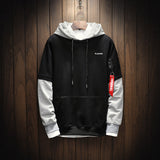Cool Sweatshirt Men Hip Hop patchwork  Long Sleeve Pullover Hoodies  2018  Sweatshirt