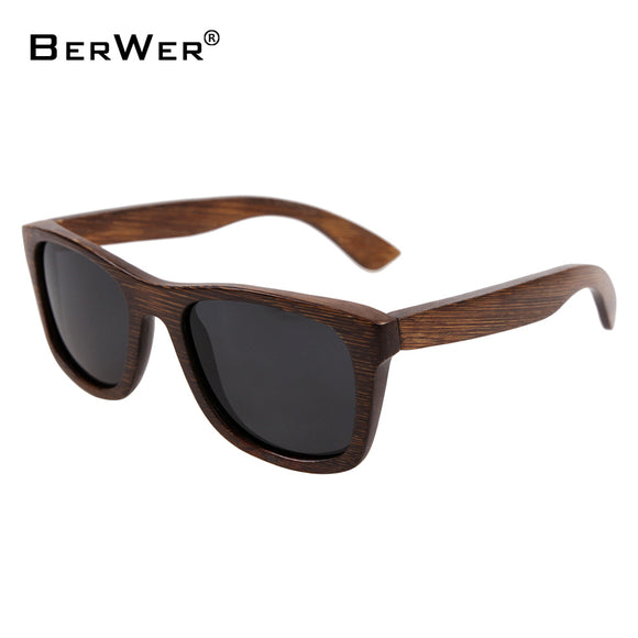 BerWer bamboo sunglasses 2018 fashion polarized sunglasses popular new design