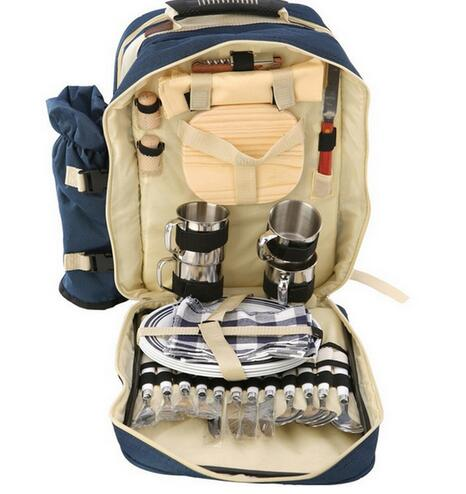 Star Home Picnic Cooler Bag Dinnerware Set 4pcs Backpack Thermal Large Portable Travel Camping Hiking Backpack Waterproof Bags