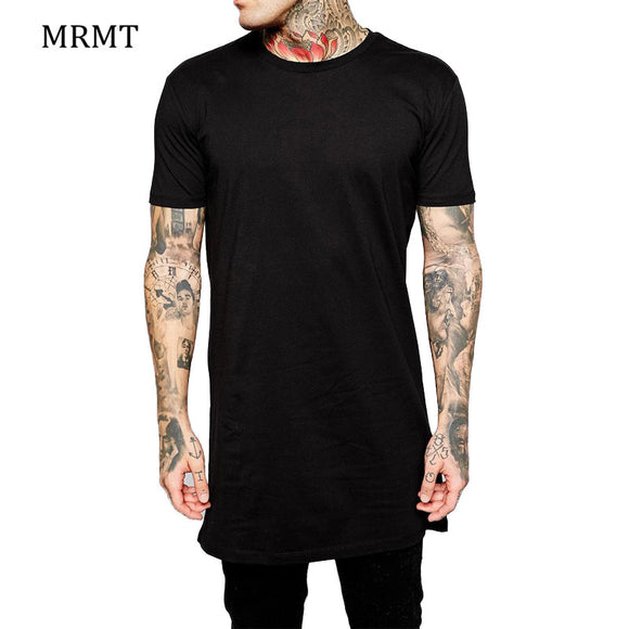 2018 Brand New Clothing Mens Black Long t shirt Men Tops Hip hop tee T-shirt Men Hiphop