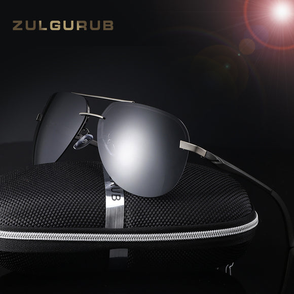 ZULGURUB Aluminum U400 Magnesium Polarized Sunglasses Men Driver Mirror Sun glasses