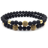 2018 Hot Fashion 8mm Ball Charm Matte Bead Set Bracelet For Men Women Trendy Jewelry Gift