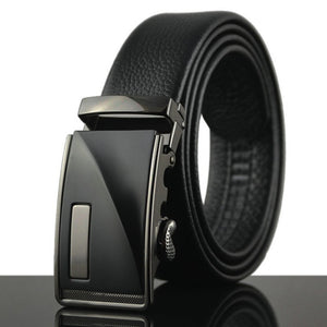 2018 Hot sale casual automatic buckle belt men's designer strap size 130 luxury belts for men cowboy black girdle formal C08219