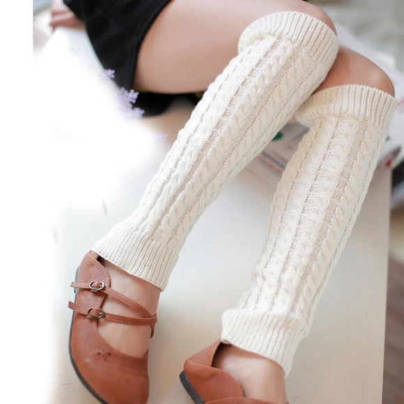 Autumn Winter Women New Over The Knee Warm Leg Warmers Charming Stylish solid Long Warmers good quality drop ship
