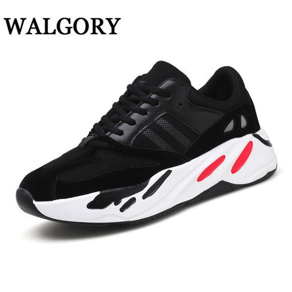 WALGORY Big Size 48 Men Casual Shoes Ins Famous Style Outdoor Sneakers Lace-up Graffiti Walking Dad Shoes Spring Fashion Shoes
