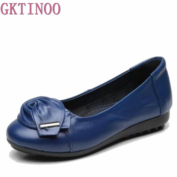 2018 New Women shoes Genuine Leather Shoes Slip-on women work shoes women Flats