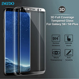 IMIDO 3D Curved For Samsung Galaxy S8 S8 Plus Tempered Glass Full Cover Screen Protector