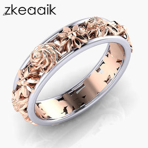 2018 NEW Silver/gold color Female Rings Vine Wave Pattern Vintage Style Rings High