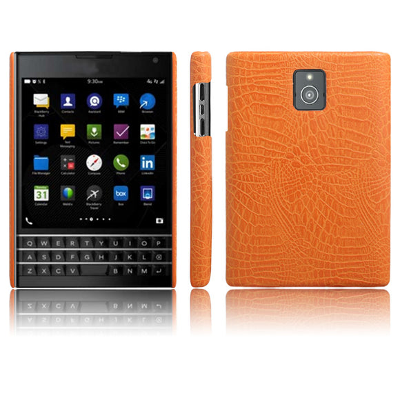 KSQ New Type Crocodile Skin PU Leather Phone Case For Blackberry Passport Q30 (4.5