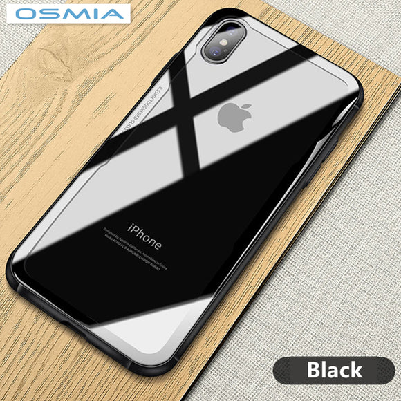 osmia For iPhone X Case Luxury Bling Mirror   Full Protection Cover For iPhone 7 8 Case  For iPhone 7 8 Plus Case  Glass Film