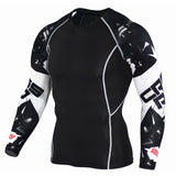 Men Women Fitness Long Sleeve Cycling Base Layers Men Bodybuilding Skin Tight