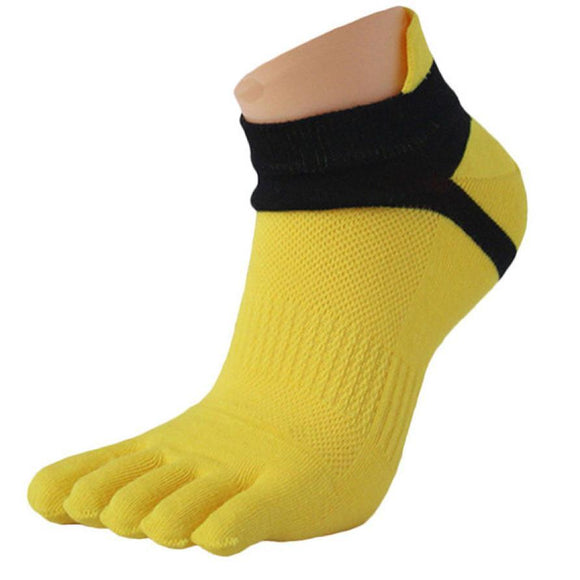 2018 Hot Sale Solid Color Men's Cotton Socks Adults Finger Breathable Five Toe Socks
