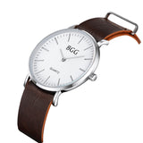 2018 Men's Ultra-thin Simple And Elegant Retro Classic Luxury Watches Leather Strap