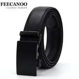 FEECANOO Fashion Designers Men Automatic Buckle Leather luxury Belts Business