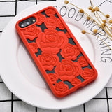 Silicone Phone Case For iPhone 8 X 7 6 6S Cases 3D Floral Luxury Fashion Soft Case For iPhone X 8 7 6 6S Plus 5.5 Inch