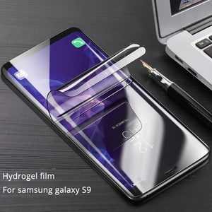 CAFELE Screen Protector For samsung galaxy S9 plus 3D Full coverage HD Clear Hydrogel