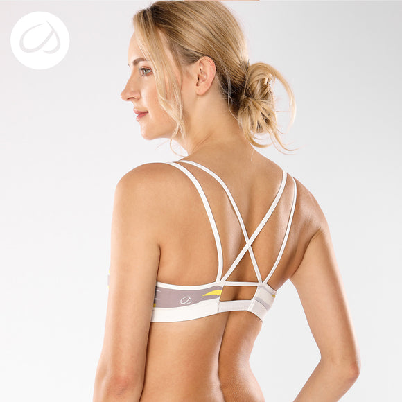 Women's Removable Padded Criss Cross Back Gym Strappy Yoga Sports Bra