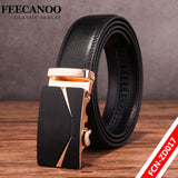 Famous Brand Belt Men 100% Good Quality Cowskin Genuine Luxury Leather Men's Belts