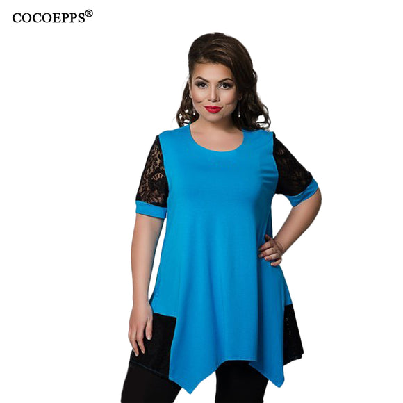2018 Spring Casual 5XL 6XL Plus size Tops Women Female Big size Loose T-shirt large