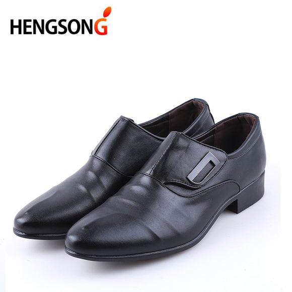 HENGSONG Spring Autumn Men Formal Wedding Shoes Luxury Men Business Dress Shoes Men Loafers Pointy Shoes Big Size 38-48